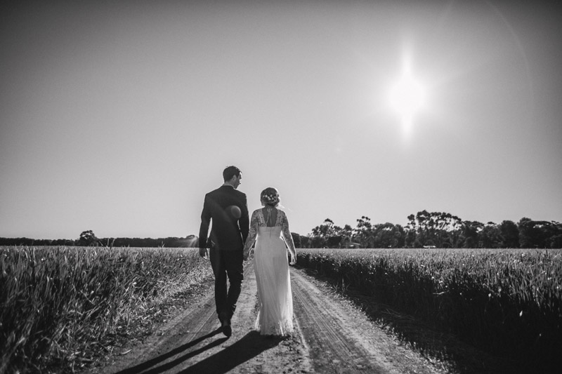 Joel and Laura's backyard wedding on a farm in Parkes in country New South Wales photographed by Melbourne Wedding Photographer Lakshal Perera