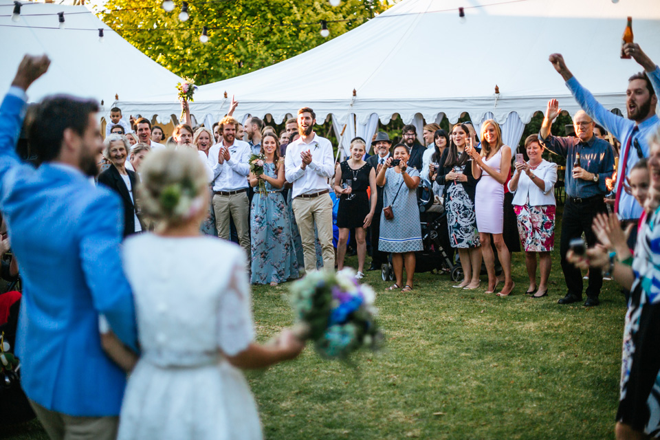 Nick and Jannah's colourful and love filled backyard DIY wedding in Ocean Grove photographed by Melbourne Wedding Photographer Lakshal Perera